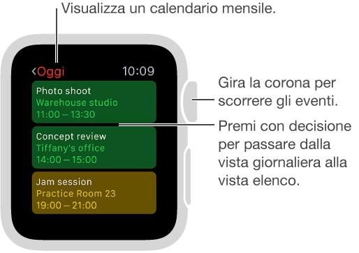 Visualizza Calendario.Controllare E Aggiornare Il Calendario Aiuto Di Apple Watch
